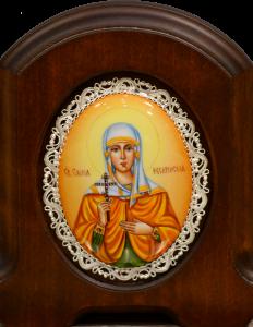 Икона из финифти Емилия Кесарийская (Размер 11*14 см)