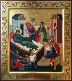 Рукописная икона Рождество Иоанна Предтечи