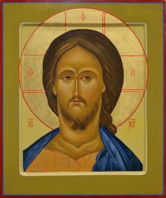 Рукописная икона Спас оплечный 71