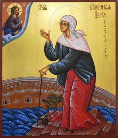 Рукописная икона Ксения Петербургская 12
