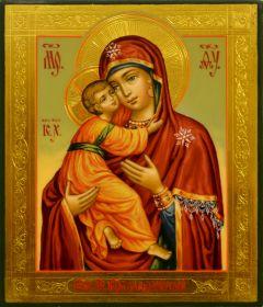 Рукописная икона Владимирская 24 (Размер 9*10.5 см)
