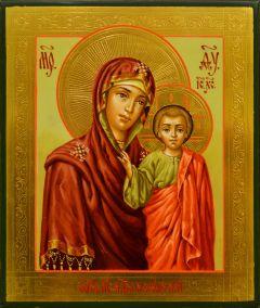 Рукописная Казанская икона миниатюра 67 (Размер 9*10.5 см)