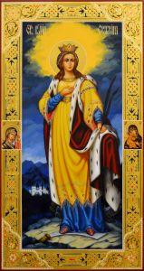 Мерная икона Екатерина великомученица 12