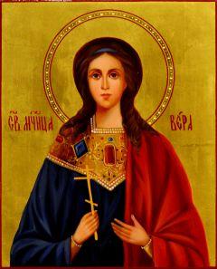 Рукописная икона Вера Римская масло