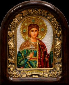Икона из бисера Даниил Кесарийский