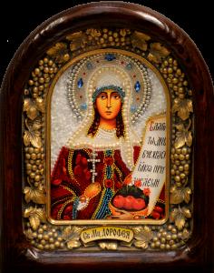 Икона из бисера Дорофея Кесарийская