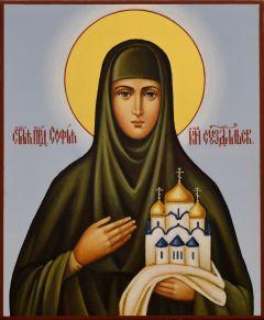 Рукописная икона София Суздальская 3