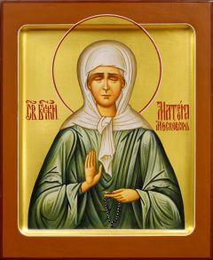 Рукописная икона Матрона Московская 23