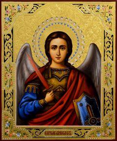 Рукописная икона Архангел Михаил 32 (Размер 21*25 см)