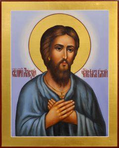 Рукописная икона Алексий Человек Божий 7