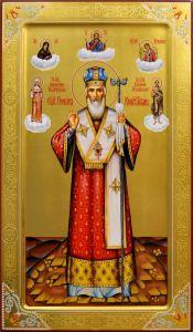 Рукописная мерная икона Григорий Константинопольский