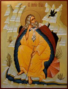 Рукописная икона Илия Пророк 8