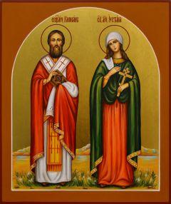 Рукописная икона Киприан и Устиния (Иустина) 3