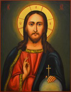 Рукописная икона Спас Вседержитель (по образцу 19 века)