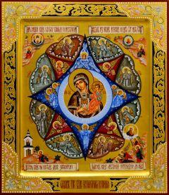 Рукописная икона Неопалимая Купина 19 (Размер 27*31 см)