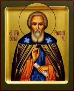 Рукописная икона Сергий Радонежский 13