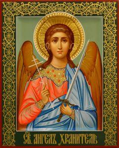 Рукописная икона Ангел Хранитель 125 (Размер 17*21 см)