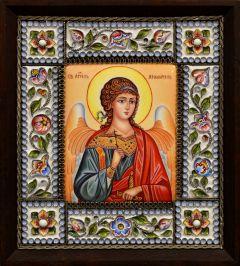 Икона из финифти Ангел Хранитель 126 (Размер 14*16 см)
