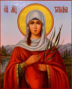 Рукописная икона Татьяна Римская масло 23 (Размер 3*16 см)
