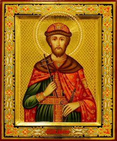 Рукописная икона Дмитрий (Димитрий) Донской 7 (Размер 17*21 см)