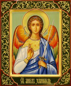 Рукописная икона Ангел Хранитель 127 (Размер 18*21 см)