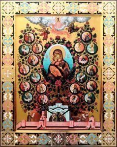 Рукописная икона Древо Государства Российского