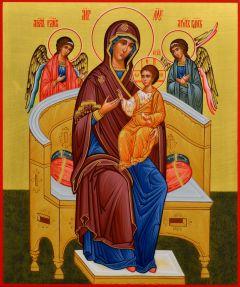 Рукописная икона Всецарица 15 (Размер 17*21 см)
