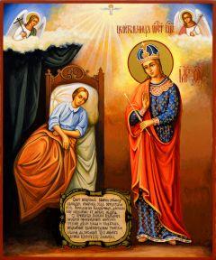 Рукописная икона Целительница 2 (Размер 17*21 см)