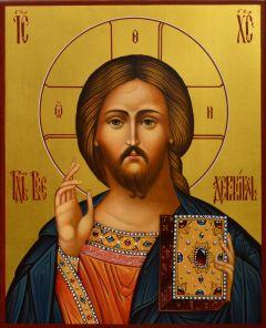 Рукописная икона Спас Вседержитель 76