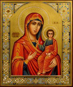 Рукописная икона Макариевская