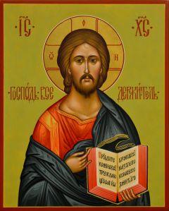 Рукописная икона Спас Вседержитель 79 (Размер 21*26 см)