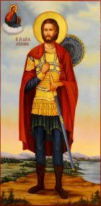 Рукописная мерная икона Максим Антиохийский масло