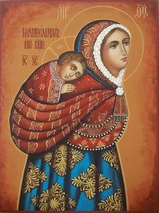 Рукописная икона Колыбельная