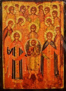 Икона состаренная Собор Архангела Михаила 3 (Размер 18*24 см)