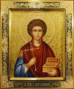 Рукописная икона Пантелеимон Целитель 30