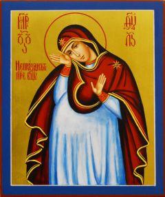 Рукописная икона Непраздная 6