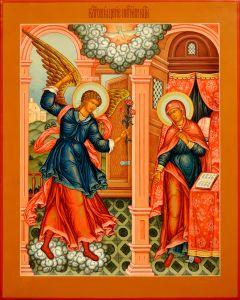 Рукописная икона Благовещение 3 (Размер 36*46 см)
