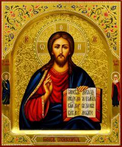 Рукописная икона Спас Вседержитель 80