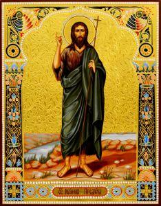 Рукописная икона Иоанн Креститель Предтеча 8