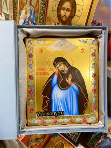 Рукописная икона Непраздная 8 (Размер 17*21 см)