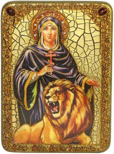 Икона ручной работы Дария Римская с камнями
