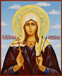 Рукописная икона Виктория Кордувийская Кордубская 4