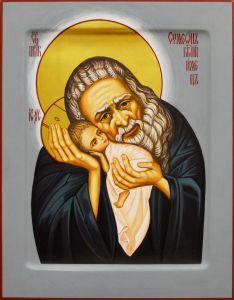 Рукописная икона Симеон Богоприимец 2 (Размер 22*28 см)