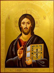 Рукописная икона Спас Пантократор Синайский монастырь 2