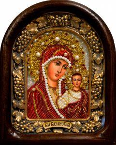 Икона из бисера Казанская 6 (Размер 18*23 см)