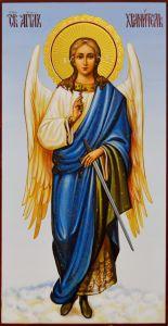 Рукописная икона Ангел Хранитель 130