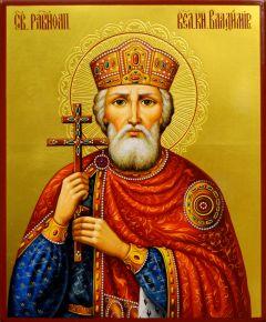 Рукописная икона Владимир Равноапостольный 18 (Размер 17*21 см)