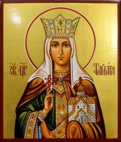 Рукописная икона Тамара царица 4