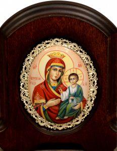 Икона из финифти Иверская 19 (Размер 11*14 см)
