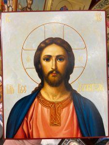 Рукописная икона Спаситель 82 (Размер 17*21 см)